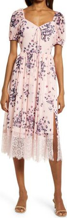 Chiffon & Lace Dress   Nordstrom