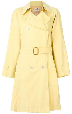 Pre-Owned belted trench coat