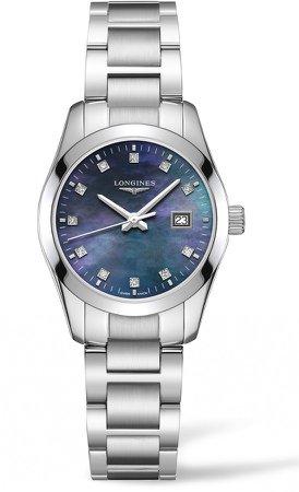 Conquest Classic Diamond Dial Bracelet Watch, 29mm