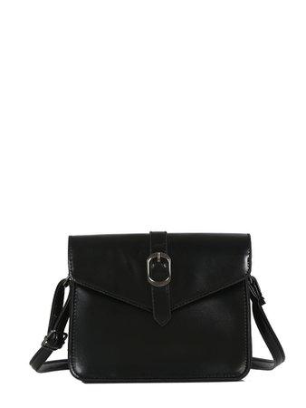 Buckle Decor Crossbody Bag