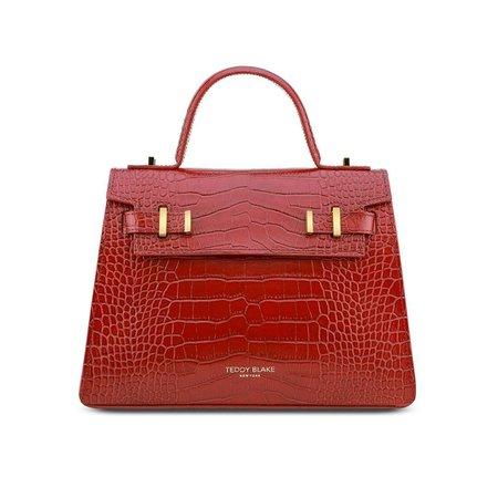 Teddy Blake, Ava Bag Croco Gold 11 Red