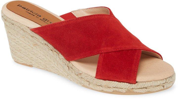 Annabelle Espadrille Wedge Slide Sandal