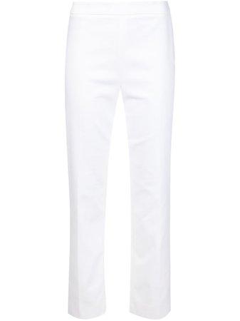 Carolina Herrera, White Classic Cigarette Pants