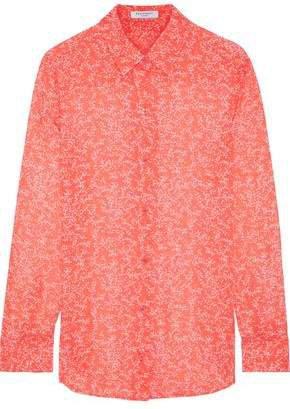 Essential Floral-print Silk-chiffon Shirt