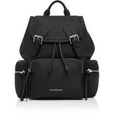 Burberry Rucksack Medium Leather Backpack (116.535 RUB) ❤ liked on Polyvore featuring bags, backpacks, backpack, bags/purses, black, purses, real leather backpack, military rucksack, sports bag and day pack backpack