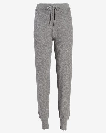 High Waisted Pointelle Jogger Pant