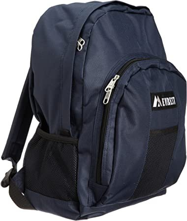 Amazon.com | Everest Luggage Backpack with Front and Side Pockets, Navy, Large | Backpacks