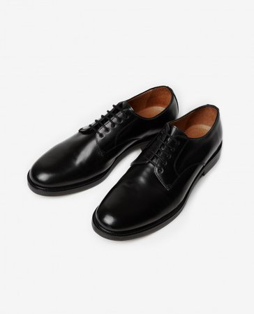 Kooples: BLACK COWHIDE DERBY SHOES
