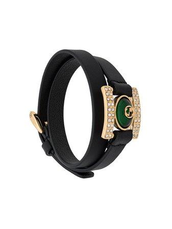 Gucci Gg Crystal Bracelet 592169J7652 Black | Farfetch