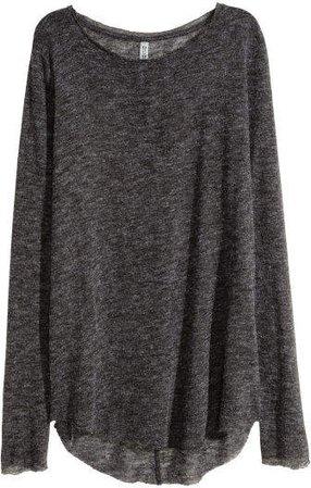 Fine-knit Sweater - Gray