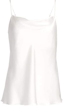 Charmeuse Silk Cowl Neck Camisole