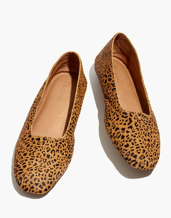 The Cory Flat in Leopard Calf Hair brown