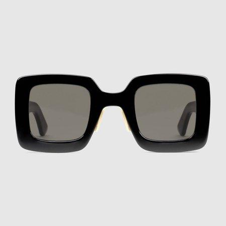 Black Square acetate sunglasses | GUCCI® UK