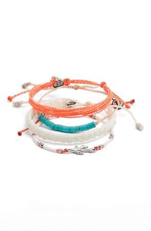 Tropical Reef 4-Pack String Bracelets