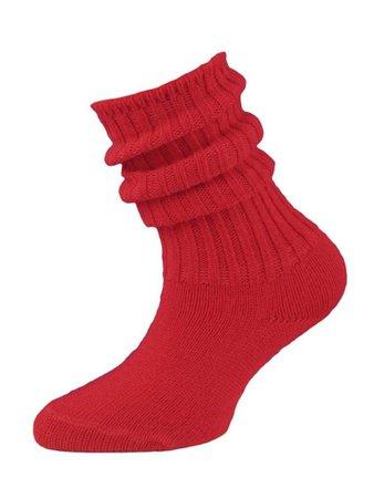 red kid scrunch socks - Google Search