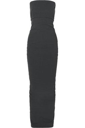 Rick Owens | Strapless cotton-blend crepe maxi dress | NET-A-PORTER.COM