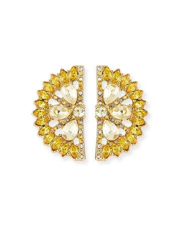 BaubleBar Lemon Crystal Stud Earrings | Neiman Marcus