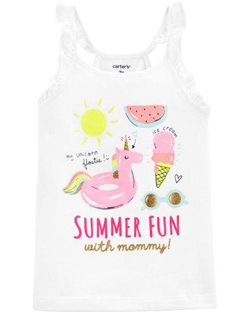 Baby Girl Summer Fun Flutter Tank | Carters.com