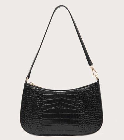black baguette bag