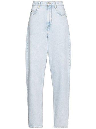 Shop blue Isabel Marant Étoile Corsyr high-rise boyfriend jeans with Express Delivery - Farfetch