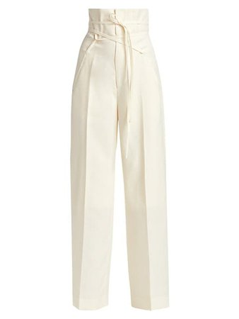 Shop Jacquemus Tie Detail High-Rise Linen Pants up to 70% Off | Saks Fifth Avenue