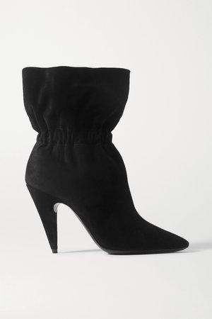 Black Etienne suede ankle boots | SAINT LAURENT | NET-A-PORTER