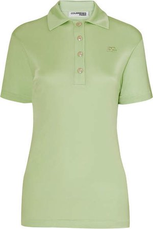 Satin-jersey Polo Shirt - Green