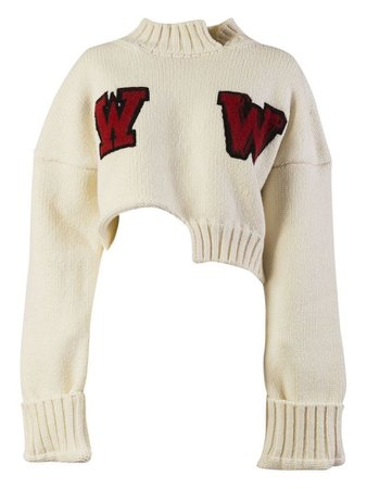 white red sweater top