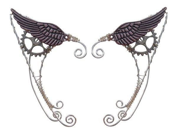 Wild West Wing Steampunk Elf Ear Cuff, Renaissance Ears – Hair Twisters