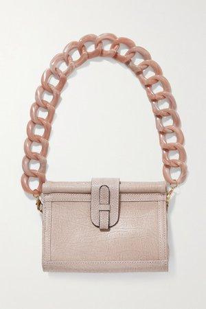 Carmen Textured-leather Shoulder Bag - Blush