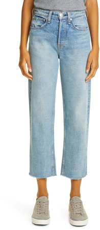 Maya High Waist Ankle Straight Leg Jeans