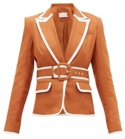 Super Eight belted linen jacket - £875