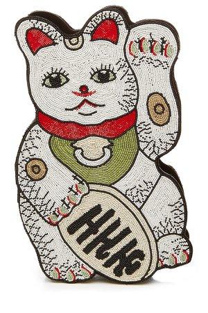 Manekineko Embellished Clutch Gr. One Size
