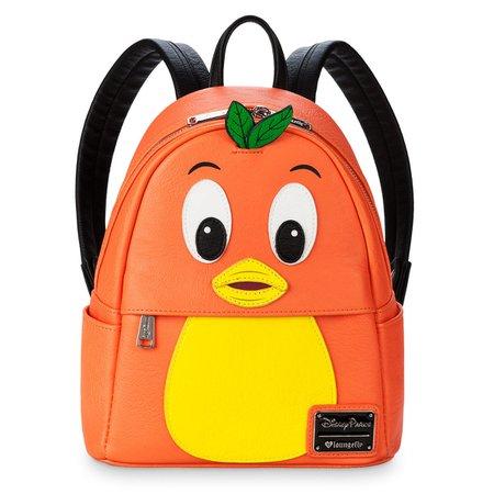 Orange mini bird backpack