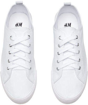 Twill Sneakers - White