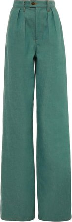 Marc Jacobs Pleated Cotton Tailored Straight-Leg Jeans Size: 0