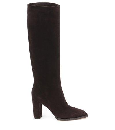 Gianvito Rossi - Kerolyn suede knee-high boots | Mytheresa