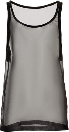 Valentino Sheer Silk Tank Top