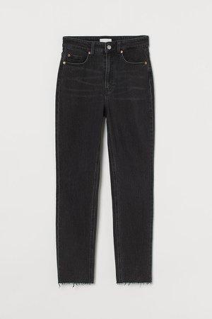 Slim High Ankle Jeans - Black