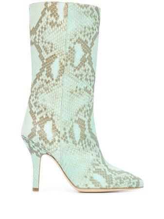 Paris Texas Snakeskin-Print Pull-On Boots Ss20 | Farfetch.com