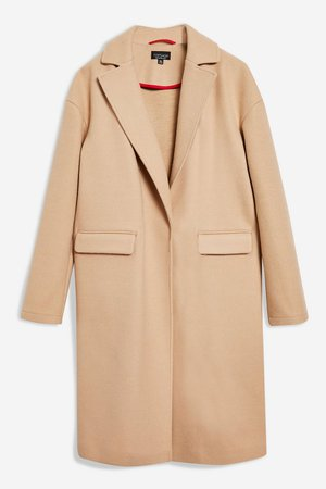 Relaxed Camel Coat - Topshop