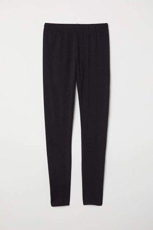 Jersey Leggings - Black