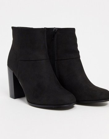 ASOS DESIGN Recite heeled ankle boots in black | ASOS