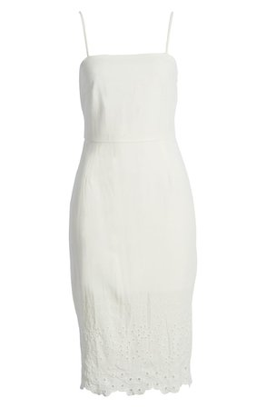 Row A Sleeveless Embroidered Midi Dress | Nordstrom