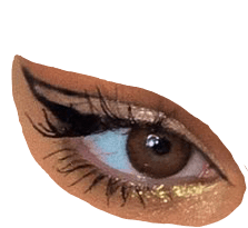 eye clothesaesthetic brown gold pngaesthetic eyeliner...