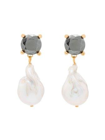 Chloé baroque pearl earrings metallic C20AFE74BC100XTU - Farfetch