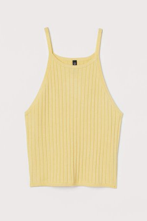 Ribbed Tank Top - Yellow