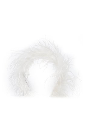 Alessandra Rich Feather Headband