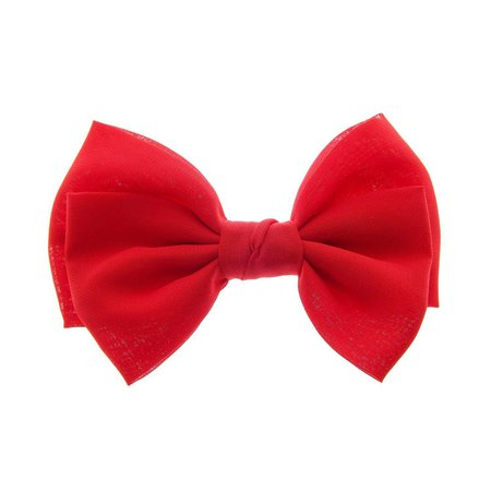Claire's Girls and Womens Large Red Bow Hair Clip in Red by Claire's - Shop Online for Jewelry in the United States