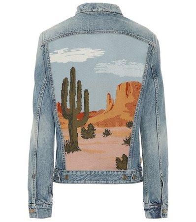 Landscape denim jacket